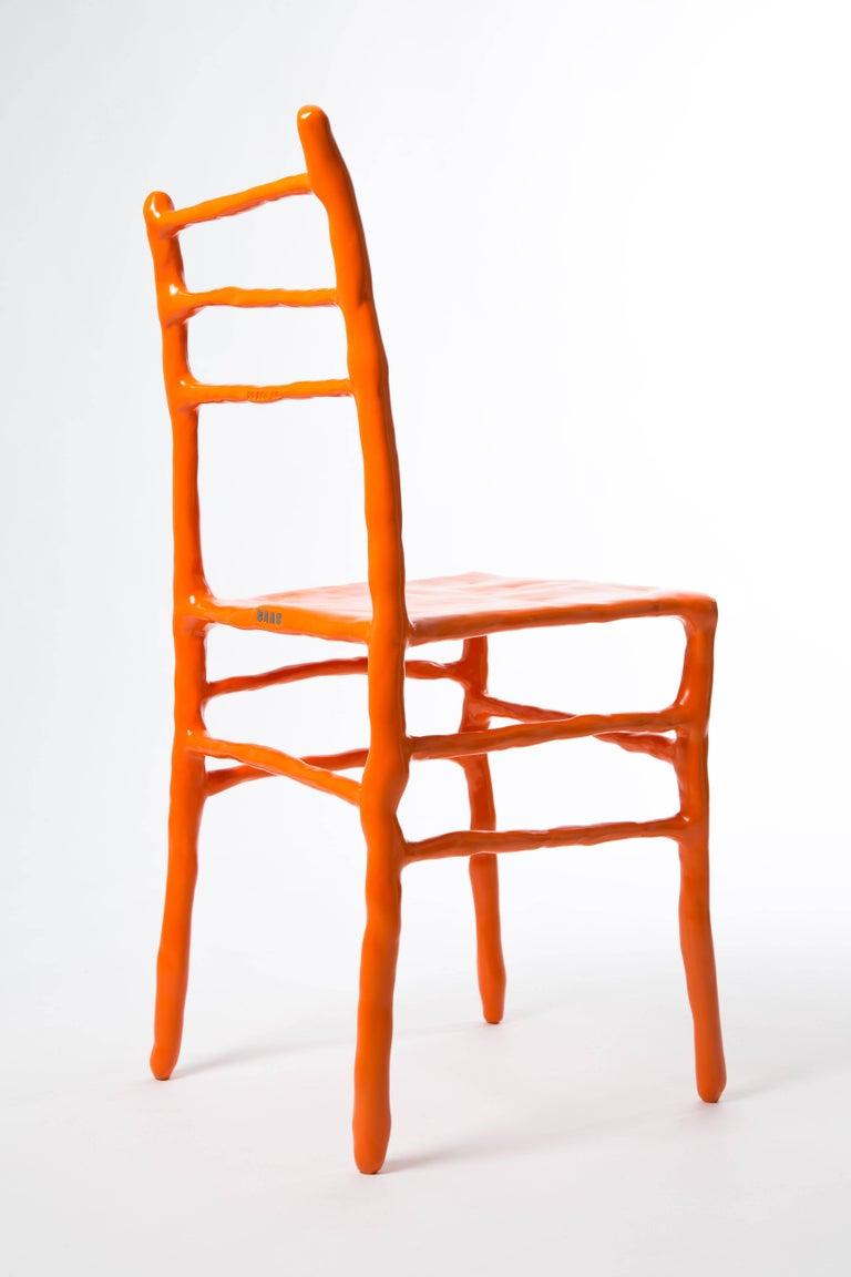 Steel Maarten Baas Clay Chair Limited Edition Basel Chair 2007 Orange For Sale