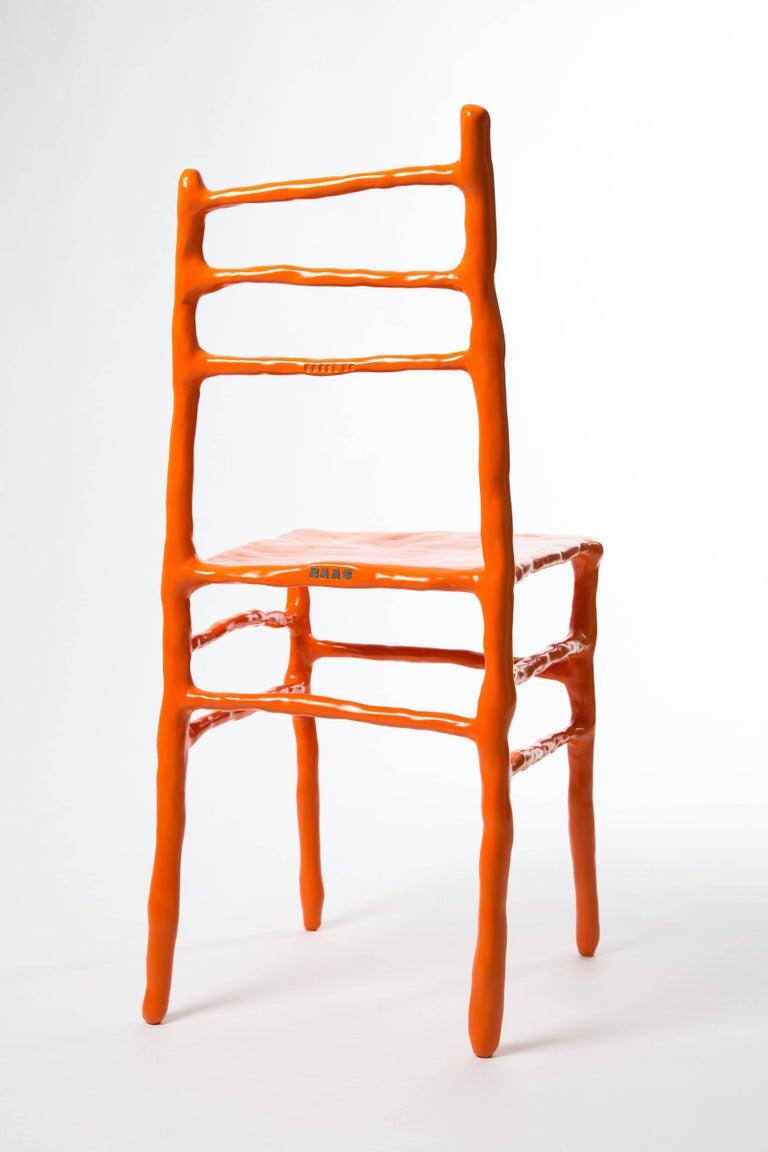 Maarten Baas Clay Chair Limited Edition Basel Chair 2007 Orange For Sale 1