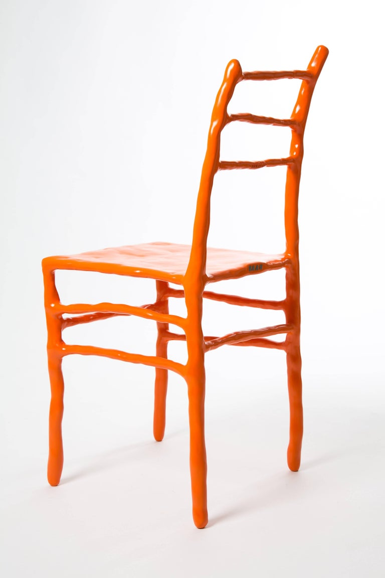 Maarten Baas Clay Chair Limited Edition Basel Chair 2007 Orange For Sale 2