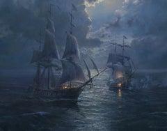 USS Wasp vs HMS Avon, Battle at Moonlight