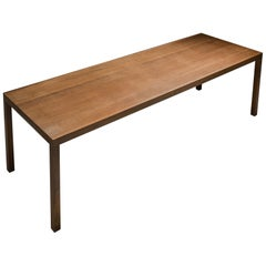 Maarten van Severen Important Dining Table T88W in Wengé from His Own Atelier