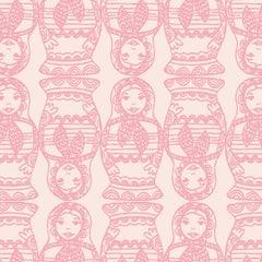 Maatuska Designer Wallpaper in Color Bubblegum 'Pink on Blush'