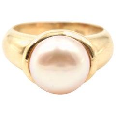 Mabe Pearl 14 Karat Yellow Gold Ring