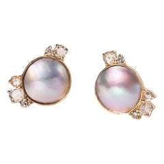 Mabe Pearl Cluster Earrings
