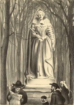 Statue of Ste. Marie de Medici, Luxembourg