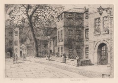 Westminster School, London, signed etching by Mabel Oliver Rae, circa 1920