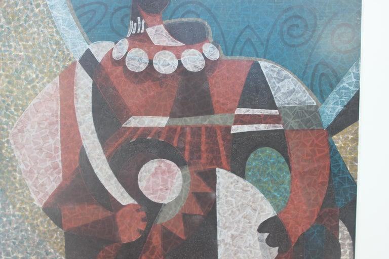 Figure Holding A Drum  - Surrealist Print by Mabuchi Toru