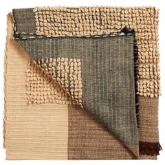 Macaroon Plush Handloom Throw / Blanket in Neutral Earthy Tones