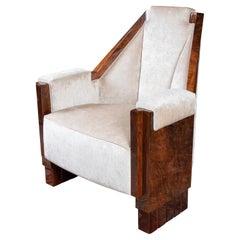 Macassar Art Deco Continental Armchairs