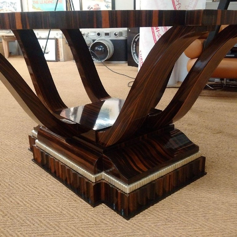 Inlay Macassar Art Deco Table with Shagreen, 1930 For Sale