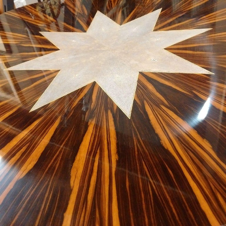 Macassar Art Deco Table with Shagreen, 1930 For Sale 3