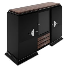 Macassar Design Highboard Art Deco Style