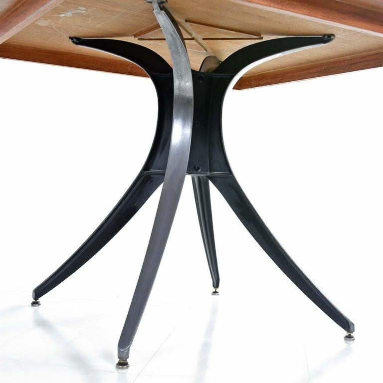 American Macassar Ebony and Teak Exotic Hardwood Chess Set Table Set For Sale