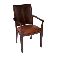 Macassar Ebony and Walnut Dining Chairs