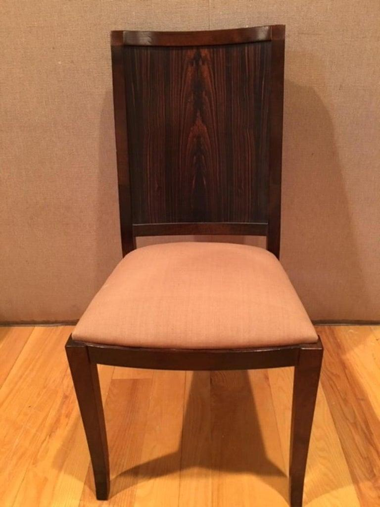 Macassar Ebony and Walnut Side Chair in Fabric or Leather In Excellent Condition For Sale In Wilton, CT