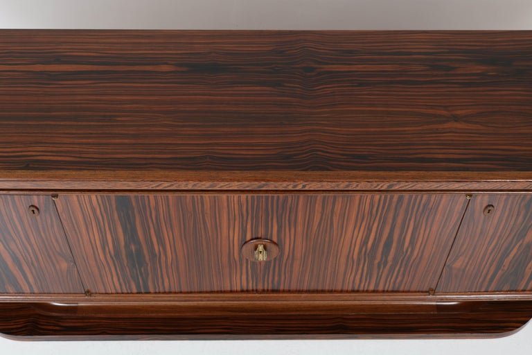 Macassar Ebony Dutch Art Deco Sideboard or Credenza by Gebroeders Reens, 1930s For Sale 2