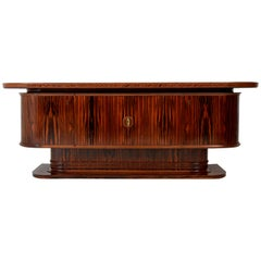 Macassar Ebony Dutch Art Deco Sideboard or Credenza by Gebroeders Reens, 1930s