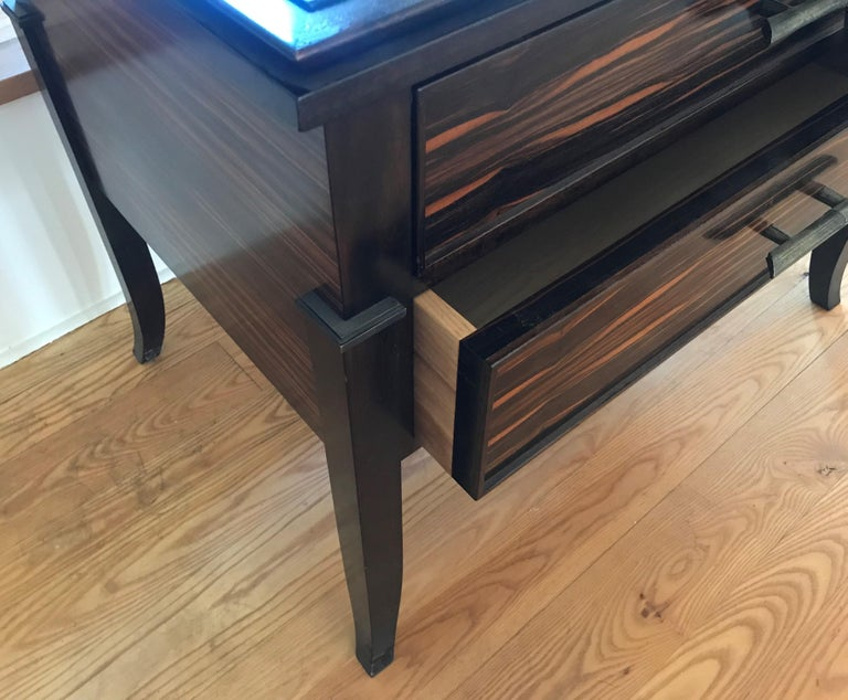 Macassar ebony side table / chest