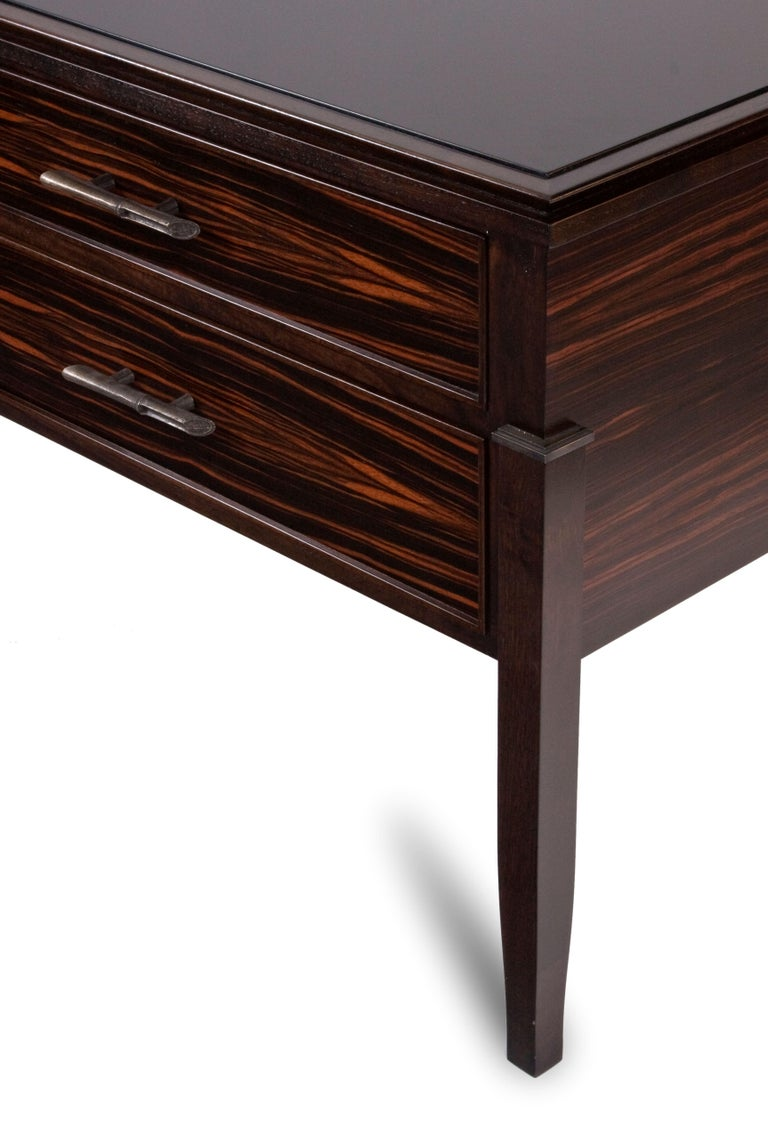 Brushed Macassar Ebony Side Table / Chest For Sale