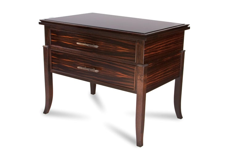 Macassar Ebony Side Table / Chest In New Condition For Sale In Wilton, CT