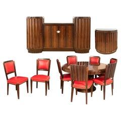 Macassar Ebony Veneer Dining Room