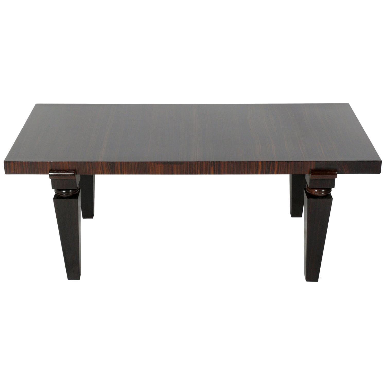 Macassar Ebony Wood Art Deco Style Coffee Table