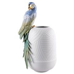 Macaw Bird Vase