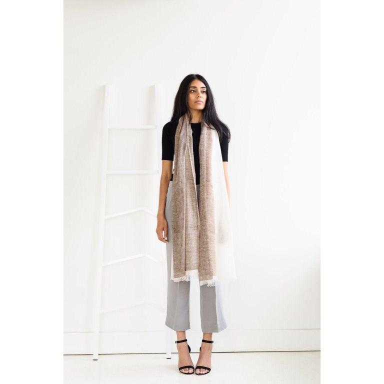 Modern MACE Linen Scarf / Wrap  For Sale