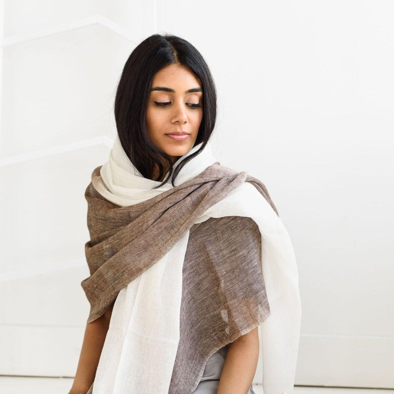 Indian MACE Linen Scarf / Wrap  For Sale