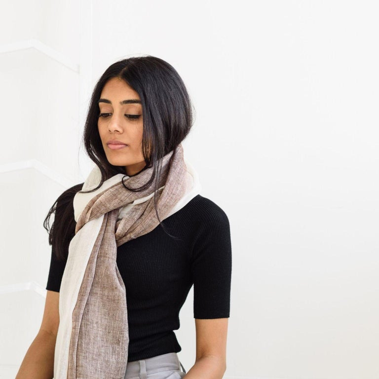 Hand-Woven MACE Linen Scarf / Wrap  For Sale