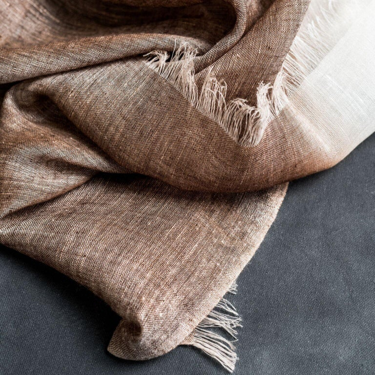 Contemporary MACE Linen Scarf / Wrap  For Sale