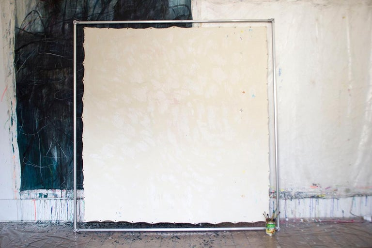 Soon Soon Soon - Gray Abstract Painting by Macha Poynder