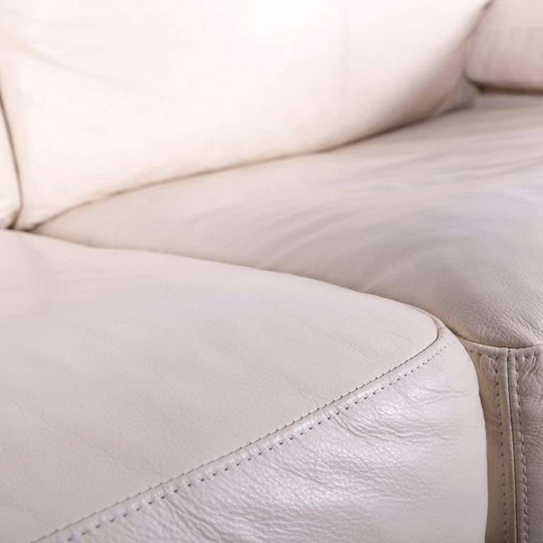 Wondrous Machalke Crack Leather Sofa Off White Two Seat Couch At 1Stdibs Pdpeps Interior Chair Design Pdpepsorg