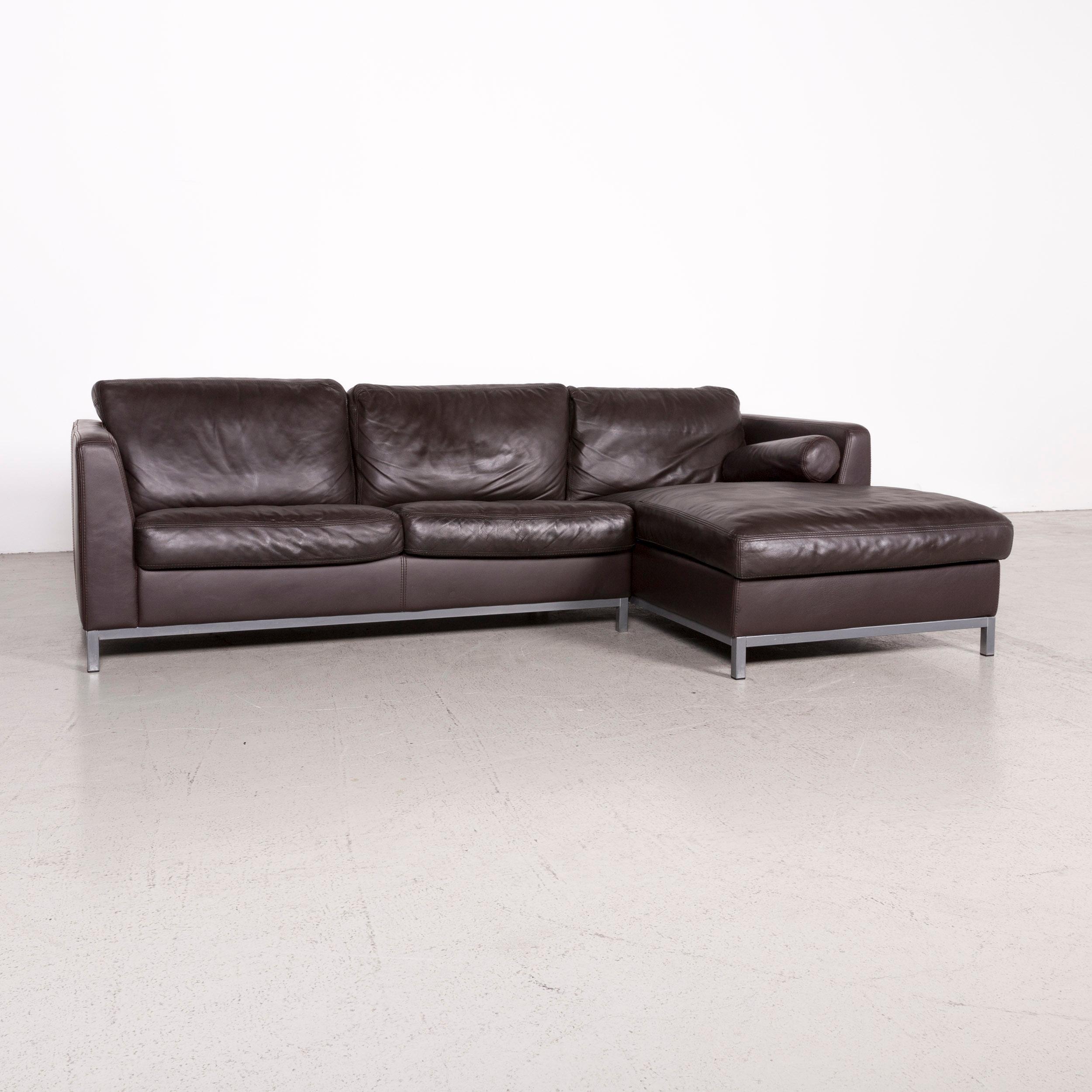 Machalke Designer Leather Corner Sofa Brown Genuine Leather Sofa Couch