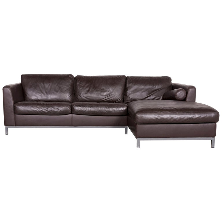 Machalke Designer Leather Corner Sofa Brown Genuine Leather Sofa Couch