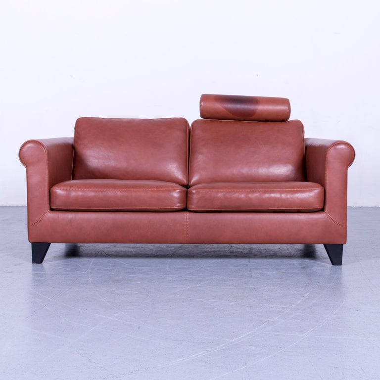 We bring to you an Machalke designer leather sofa set red two-seat couch.