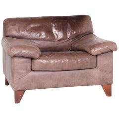 Machalke Diego Designer Leather Armchair Brown by Teun Van Zanten Genuine