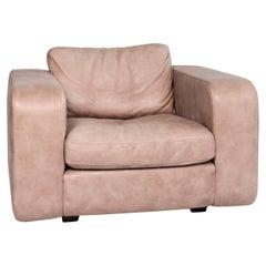 Machalke Leather Armchair Brown Beige