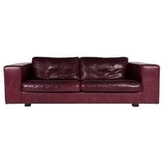 Machalke Leder Sofa Lila Zweisitzer Couch
