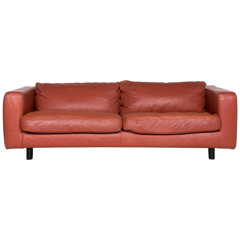 Stupendous Machalke Valentino Designer Leather Sofa Brown Rust Brown Two Seat Couch Ocoug Best Dining Table And Chair Ideas Images Ocougorg