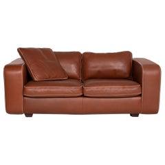 Machalke Valentino Leather Sofa Brown Two-Seater