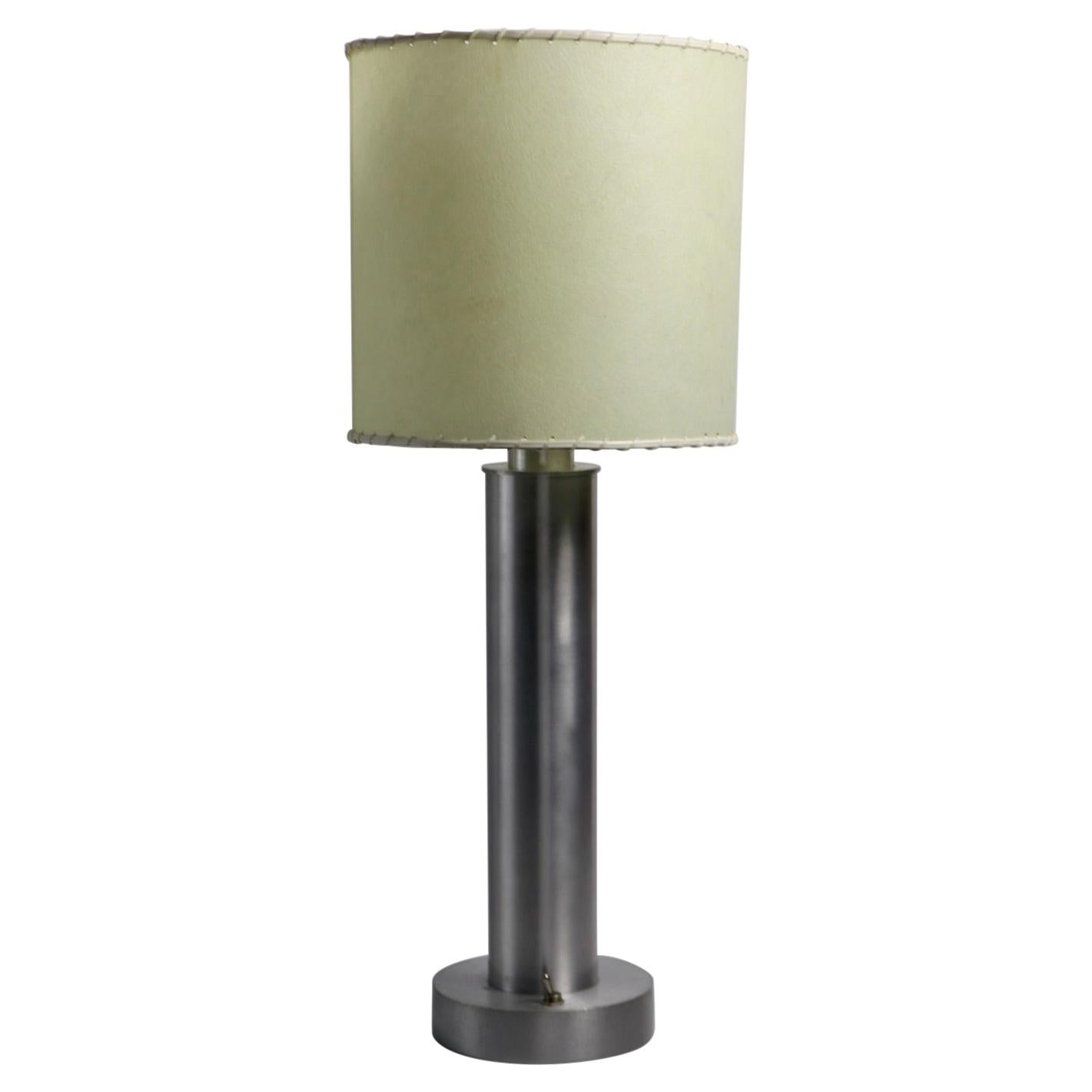 Machine Age Aluminum Base Table Lamp after Walter Von Nessen 3 Available