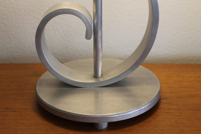 Machine Age Aluminum Musical Note Table Lamp For Sale 4