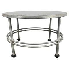 Machine Age / American Art Deco Warren McArthur Aluminum Cocktail Table