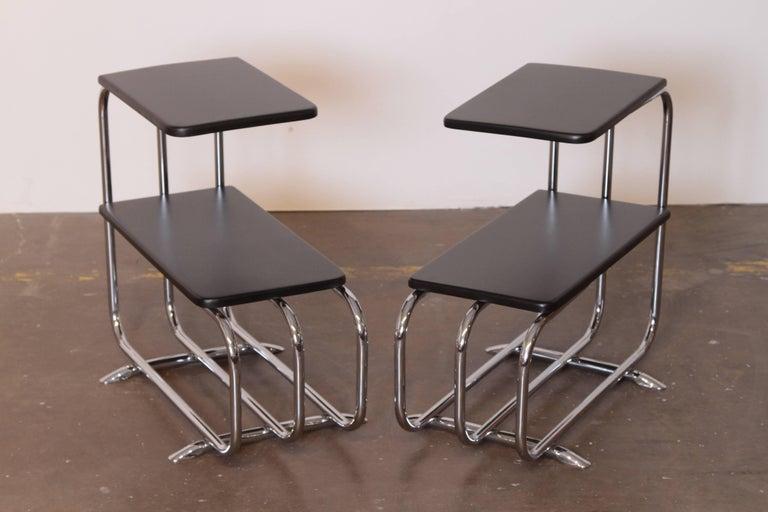 Machine Age Art Deco Alfons Bach Lloyd Chromium Furniture End Tables, Lloyd's For Sale 3