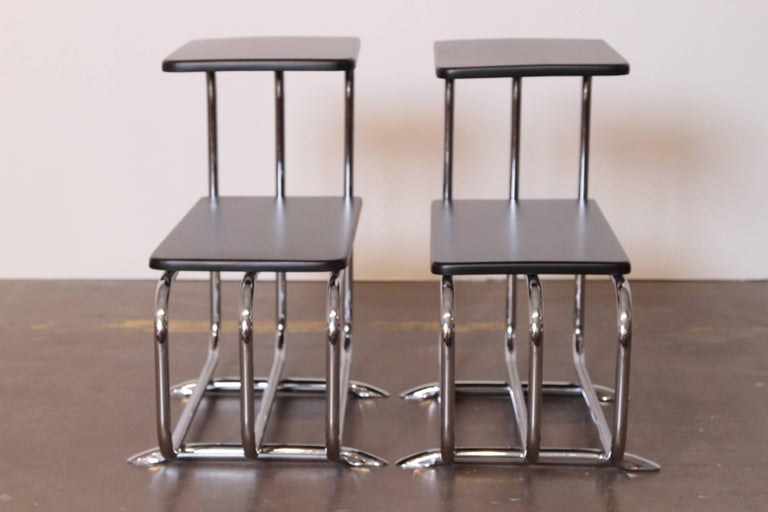Machine Age Art Deco Alfons Bach Lloyd Chromium Furniture End Tables, Lloyd's For Sale 4