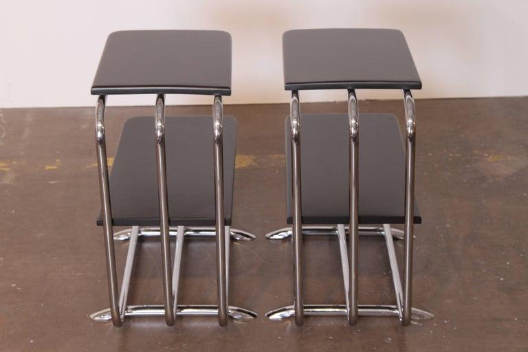Machine Age Art Deco Alfons Bach Lloyd Chromium Furniture End Tables, Lloyd's For Sale 2
