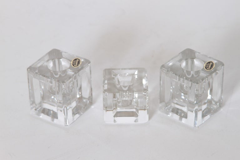 Machine Age Art Deco Cambridge pristine table architecture Cubist candlesticks candlesticks candelholder  The Pristine Line featured the Iconic Museum Candlepieces designed by Wilbur Orme with this muti-faceted relief.The pristine line featured