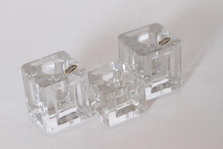 Machine Age Art Deco Cambridge Pristine Table Architecture Cubist Candlesticks For Sale 3