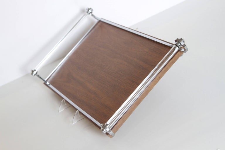 Lacquered Machine Age Art Deco Cocktail Tray, Manner of James Amster For Sale